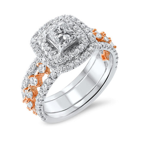 14k White Gold and Rose Gold