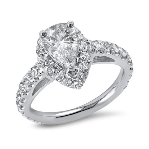 .92 Carat Pear Shaped Engagement Ring