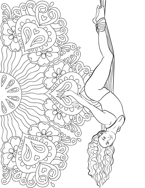 Aerial Silks Coloring Book - Digital Download