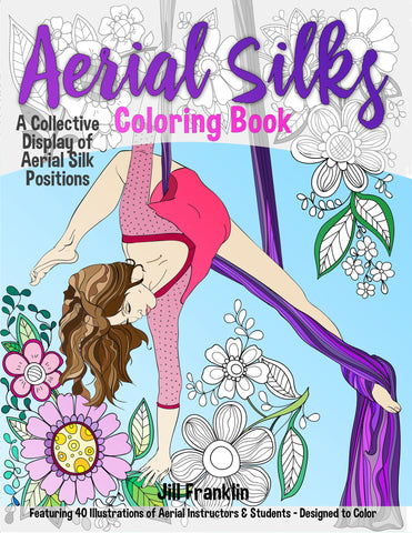 Aerial Silks Coloring Book