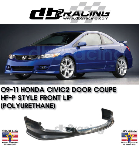 US-Spec Only Urethane A-Style Front Lip Fits 13-15 Civic 4dr