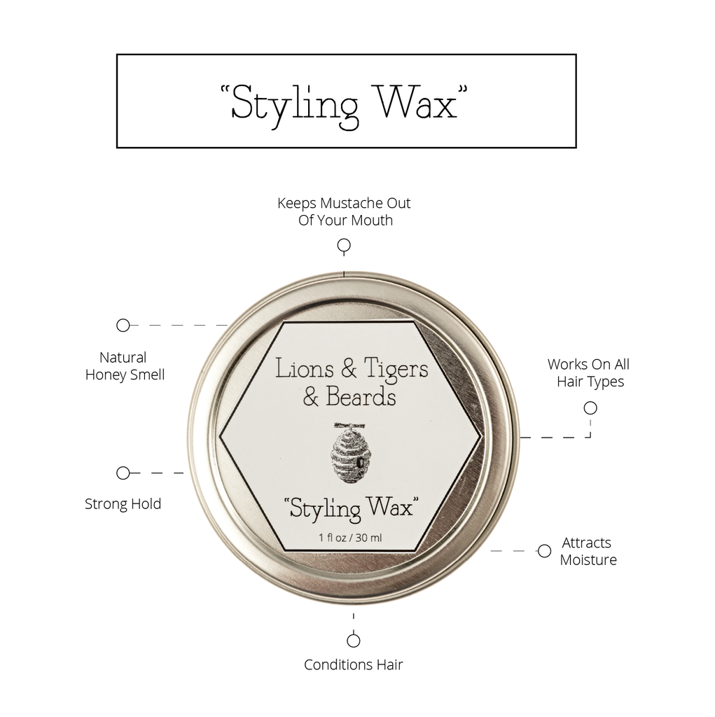 Mustache Styling Wax Infographic