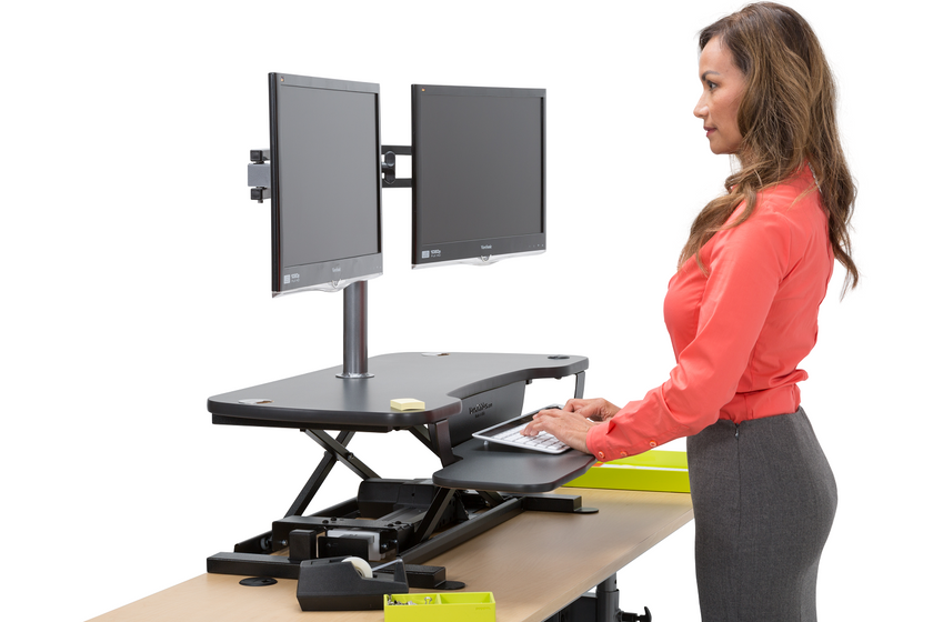 Dual LCD Spider Monitor Arm - Standing Desk Converter - 5