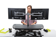 Dual LCD Spider Monitor Arm - Standing Desk Converter - 9