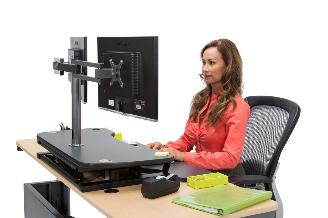 Dual LCD Spider Monitor Arm - Standing Desk Converter - 4