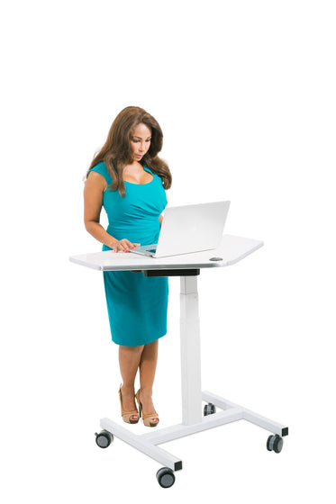 Sit to Stand Power Cart - Standing Desk Converter - 6