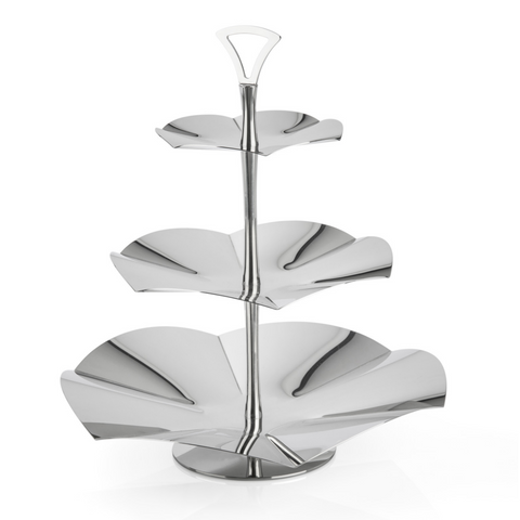 3 Tier Server Stand in Stainless Steel 18/10 Grade from Elleffe Design