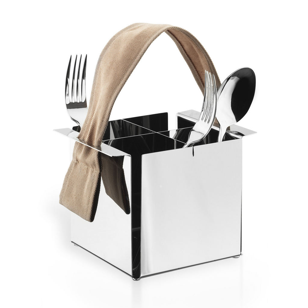 Flatware caddy in stainless steel 18/10 grade