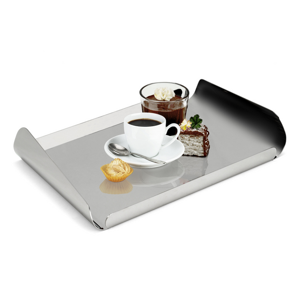 Serving tray in stainless steel 18/10 grade