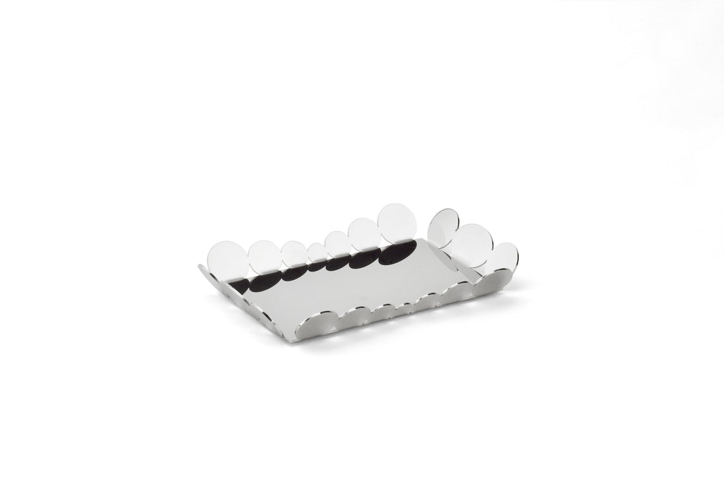 7 inch serving tray in stainless steel grade 18/10 by Elleffe Design