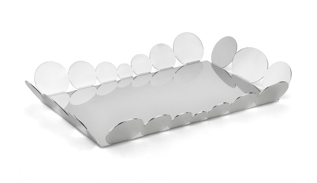 17.7 inch serving tray in stainless steel grade 18/10 by Elleffe Design