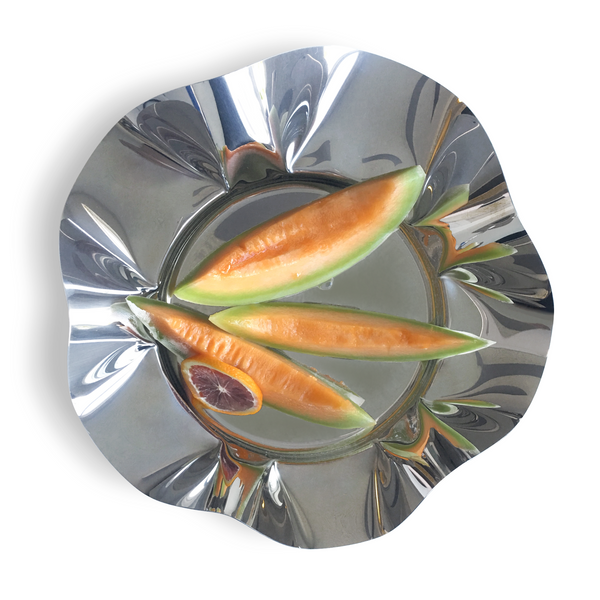 Large fruit bowl in stainless steel 18/10 grade- 13.25inch