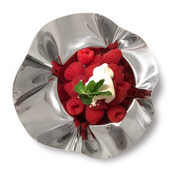 Small fruit bowl in stainless steel 18/10 grade-7.6 inch