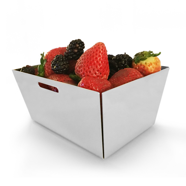 Small fruit basket in stainless steel 18/10 grade