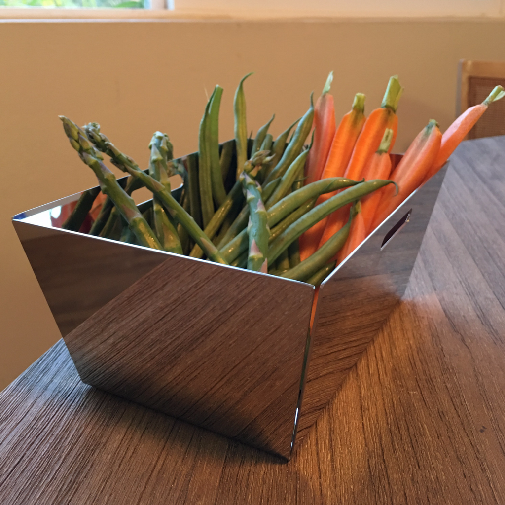 Small Stainless Steel Fruit Basket in 18/10 Grade Elleffe Design