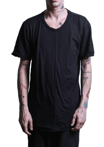 U-Neck Double Tee Black