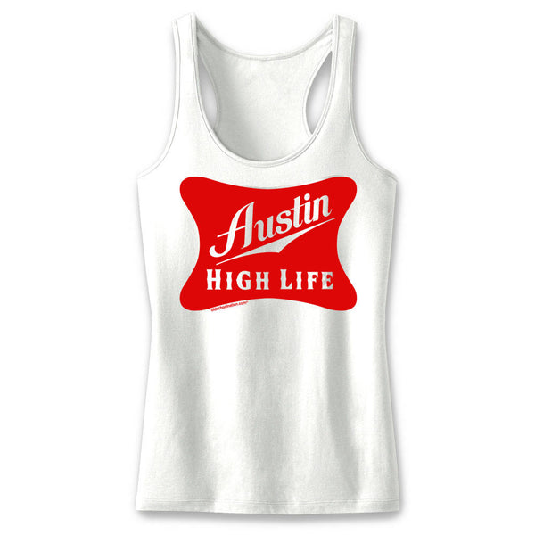 Austin High Life Ladies' White Tank