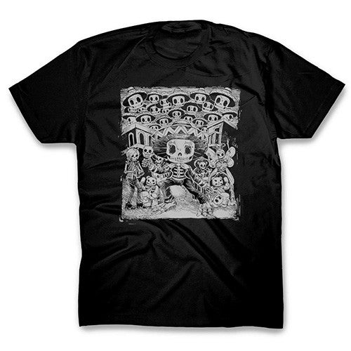 Mariachi Skeleton Black T-shirt