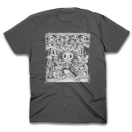 Mariachi Skeleton Charcoal T-shirt