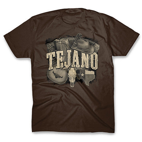 Tejano Heather Brown T-shirt