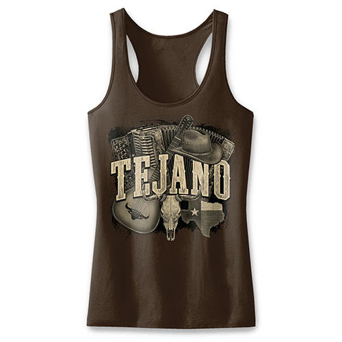 Tejano Ladies' Chocolate Brown Tank