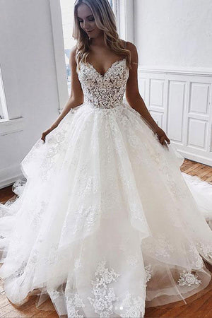 White sweetheart tulle lace long prom dress, white lace evening dress