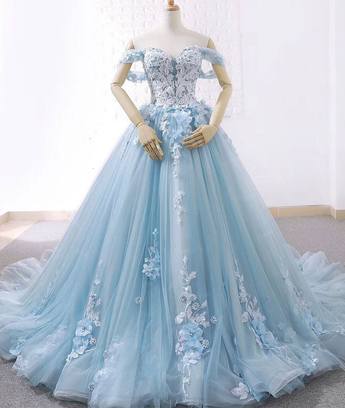 sweetheart tulle lace long prom dress