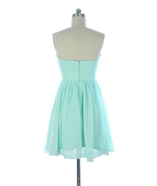 Cute sweetheart green short prom dress, green homecoming dress - shdress