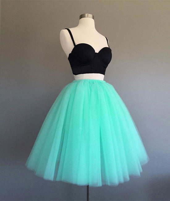 Cute two pieces mint Green short prom dress, homecoming dress - shdress