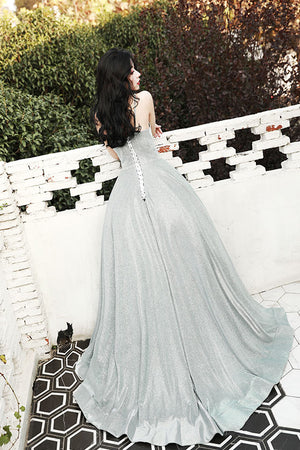 Unique v neck long prom dress, evening dress