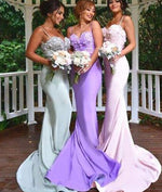 Sweetheart neck long prom dress, bridesmaid dress, wedding party dress