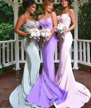 Sweetheart neck long prom dress, bridesmaid dress, wedding party dress - shdress