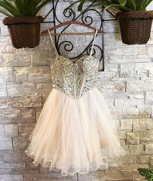 Cute sweetheart tulle short prom dress, homecoming dress - shdress