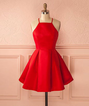 Cute red short prom dress, cute red homecoming dress - shdress