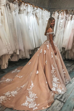 Champagne sweetheart tulle lace long prom dress champagne evening dress