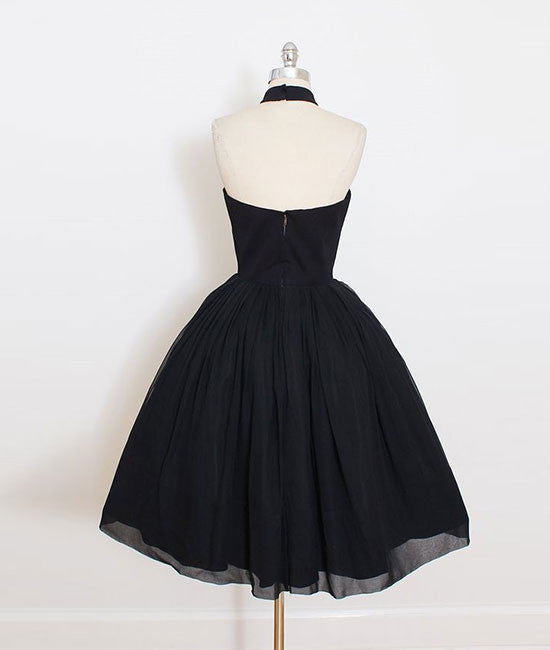 Cute black short prom dress, black homecoming dress - shdress