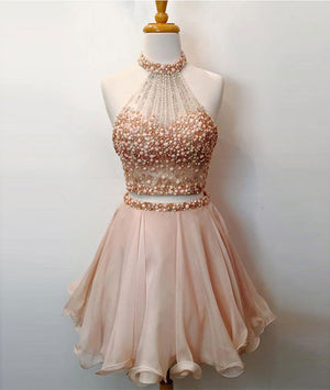 Cute two pieces short prom dress, cute homecoming dress - shdress