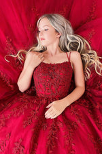 Burgundy tulle lace long prom dress burgundy tulle formal dress