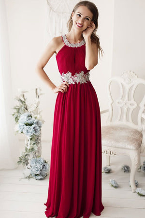 Simple lace chiffon long prom dress lace chiffon evening dress