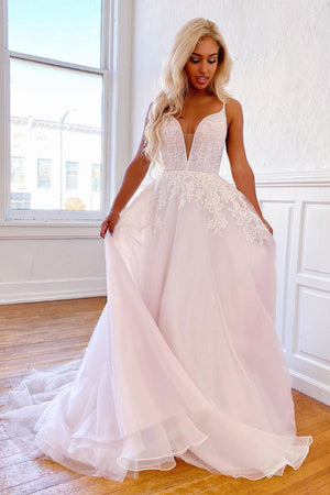 Elegant sweetheart tulle lace long prom dress tulle formal dress