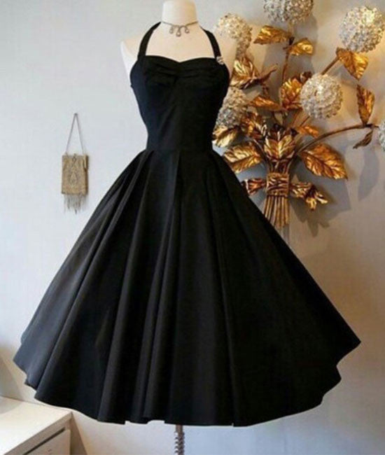 Cute Black Retro short prom gown, retro prom dresses - shdress