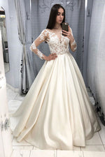 Beige lace satin long prom dress beige lace evening dress