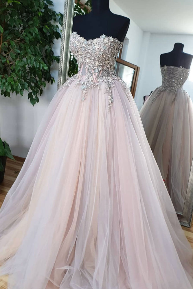 Unique sweetheart tulle lace formal dress tulle lace evening dress