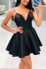 Black short prom dress, black homecoming dress