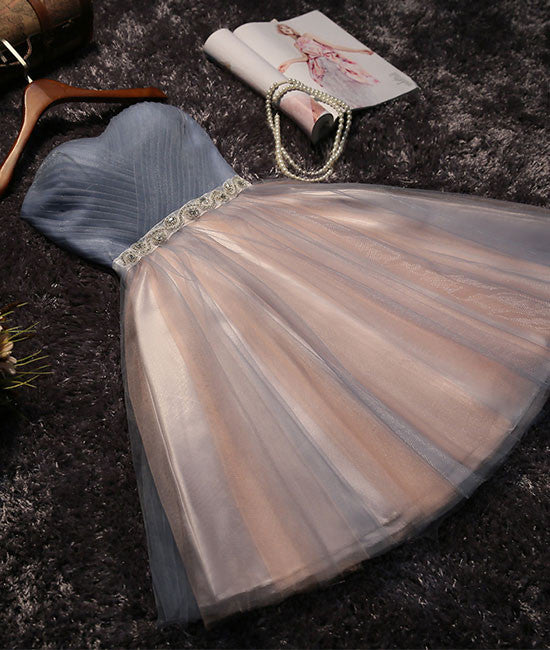 Cute tulle short prom dress for teens, homecoming dress