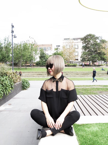 black and white minimal fashion - Fashion Blogger Mercedes-Benz Fashion Week Australia