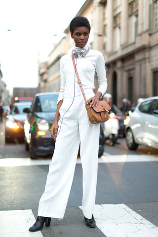 White fashion runway, street wear, minimal fashion