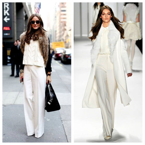 Olivia Palermo in White Autumn look, Destination Luxury