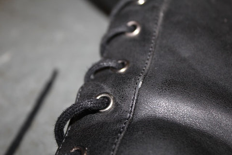 Close up of leather, a surprisingly sustainable material
