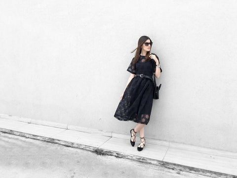 suki dress, blogger, little black dress, eco friendly fashion